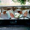 USA. St. Louis Missouri. 1964. Jeep full of Daughters of Charity carrying food and medicine from their hospital to their parisioners.
