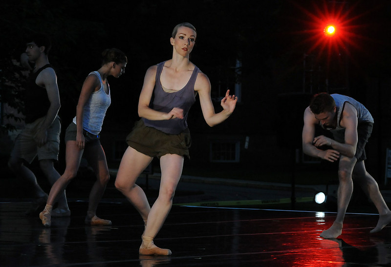 Members of the Neos Dance Theatre perform at free concert on Tappan Square in Oberlin on July 10. STEVE MANHEIM/CHRONICLE
