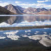 Clouds Reflecting in Pangong Tso