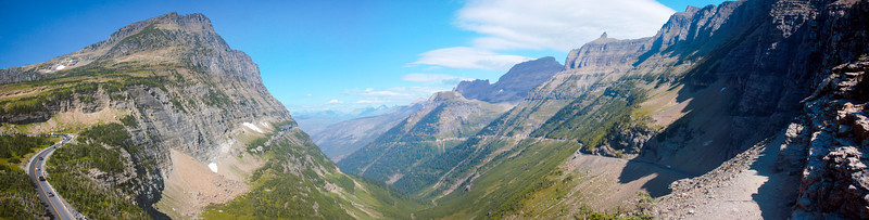 Panorama at Glacier National Park