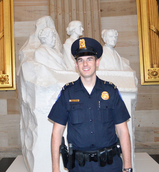 Security Guard at the US Senate at the Capitol in Washington DC