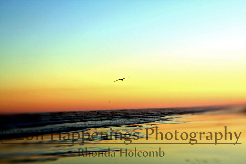 Sunset at Bryan Beach by Rhonda Holcomb