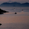 Fishing boats leaving the Tomonoura harbor for the Seto Inland Sea - early morning  (Still Point  Pool)