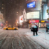 New York Winter Night - Times Square in the Snow