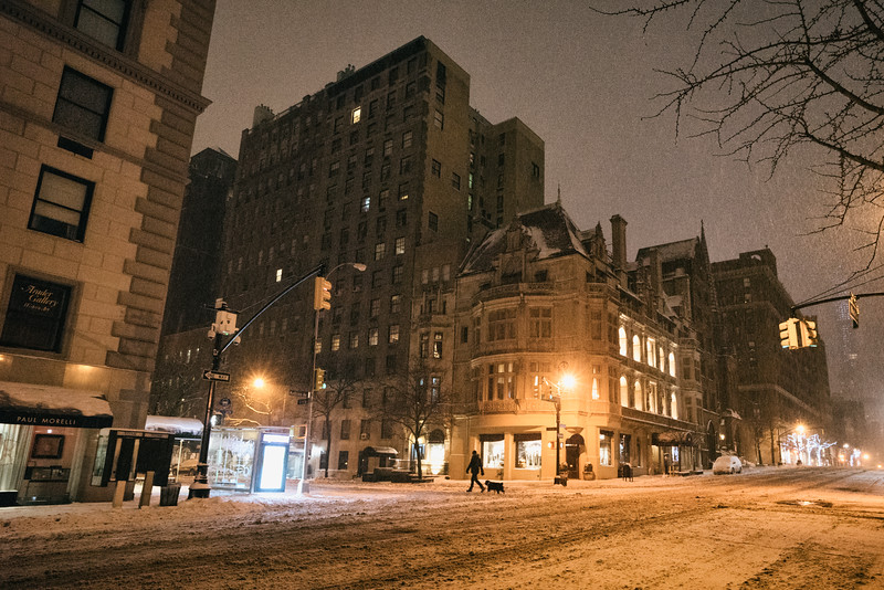 New York City - Snow - Winter Storm Juno - Upper East Side