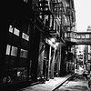 New York City - Staple Street - Black and White