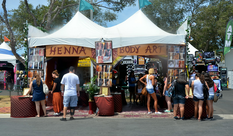 Henna Body Art at the Orange County Fair in Costa Mesa California