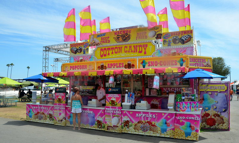 Cotton Candy at the Orange County Fair in Costa Mesa CA