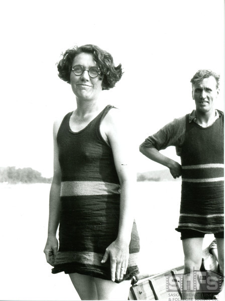 [Ruth and Matt Bone at Jackfish Lake, 1929]