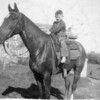 [Wayne Taylor riding to school, 1930s]
