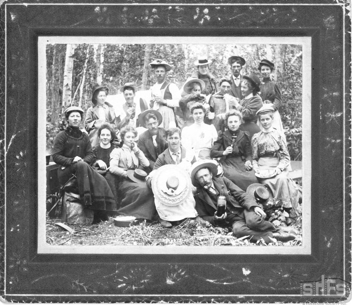 [Picnic at Kenosee Lake, circa 1901]