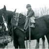 [Young boy on horse, near Arcola, 1930s]