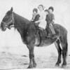 [Children riding to school in winter, near Palmer, c. 1916]