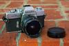 Minolta SR-T 201 (late 1970s) with Sigma Filtermatic 16mm f/2.8 Fisheye (c. 1980)