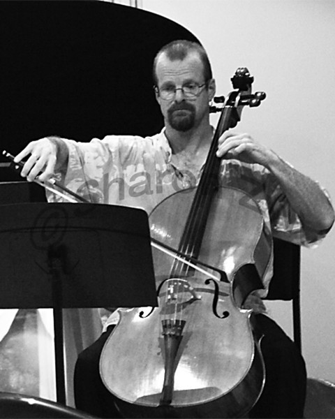 John Napier playing Cello