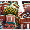 St. Basil's Cathedral Dome. (6.23.2012)<br /> <br /> Our Internet was down all week which is why we haven't been around. It was also a busy week as we had company so, of course, we had to visit Red Square. This a just one of St. Basil's nine brightly colored domes. I couldn't get a good shot of the entire cathedral with bright hazy sunshine and huge crowds, but you're undoubtedly familiar with this iconic building completed in 1561 during the reign of Ivan The Terrible. Legend has it that Ivan ordered the architect of the building blinded so he could never create anything as beautiful as this. Just reward for a masterpiece that's lasted more than 450 years?<br /> <br /> Hope everyone had a good week.