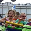 Addi Lutz, 4, and Riley Lutz, 6, of Wakeman loved the rides at the fair.