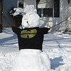 Becky Spencer Kovacs' neighbor and his friends built this snowman on Stafford Drive.