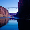 Navajo Bridge (original bridge) from the Colorado River, Marble Canyon
