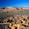 North America, USA, New Mexico, Chaco Culture National Historical Park, Pueblo Bonito, a Unesco World Heritage Site