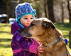 New Friends<br /> While on a walk, my dog and this little girl made a connection.  They were so cute together. Belle is great with children and this sweet girl loved her.  What a wonderful walk.