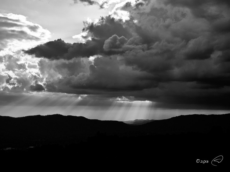 Storm clouds beginning to clear out after bringing wonderful, and much needed, rains to the Sierra Foothills.
