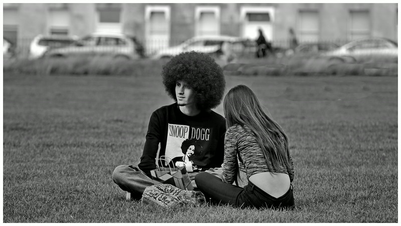 Afro Guy and Partner - Royal Crescent Bath