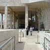 Walking at the Getty Museum in Los Angeles California