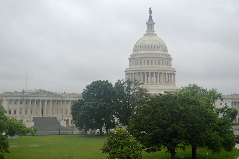 Our Nation's Capitol in Washington DC on a Cloudy Day