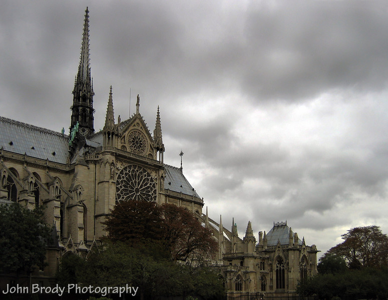 Notre Dame Cathedral during a thunderstorm, Paris, France - © John Brody Photography