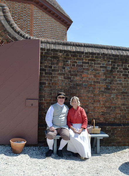Colonial Couple in Williamsburg VA
