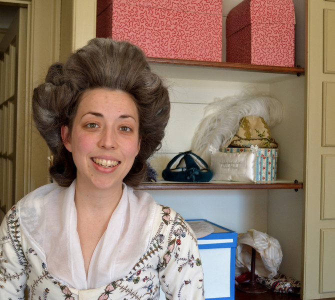 Pretty Girl with Colonial Hair Style in Williamsburg VA