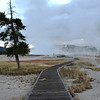 Morning at Yellowstone National Park in Wyoming