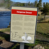 Dangerous Ground in Yellowstone National Park in Wyoming