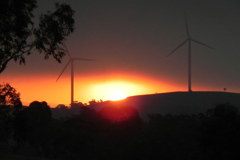 22/02/2014 - Sunset Through The Turbines Near Tarago