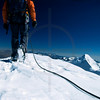 Descending the south peak of Illimani, Bolivia