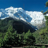 Pisang Peak and forests, Pisang area, Annapurna Circuit, Nepal