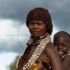 Hamer woman with child, Turmi, Southern Ethiopia