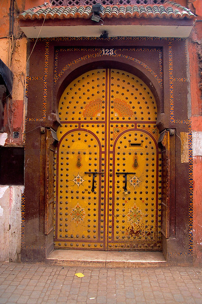 Door, medina of Marrakesh, Morocco