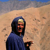 Berber herdsman enjoying a ciragette, High Atlas near Jebel Toubkal, Morocco