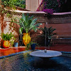 Patio with fountain,  Jardin Majorelle, Marrakesh, Morocco