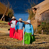 Women on an Uros island, Lake Titicaca, Peru