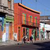 Colorful house and street scene in La Boca, Buenos Aires, Argentina