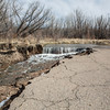 Flood damage at Chatfield State Park.