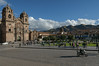 Plaza de Armas with the Church of the Society of Jesus on the left. Contstruction started in 1576.