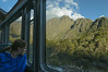 Leaving Aguas Calientes by train -the only way to leave other than walking