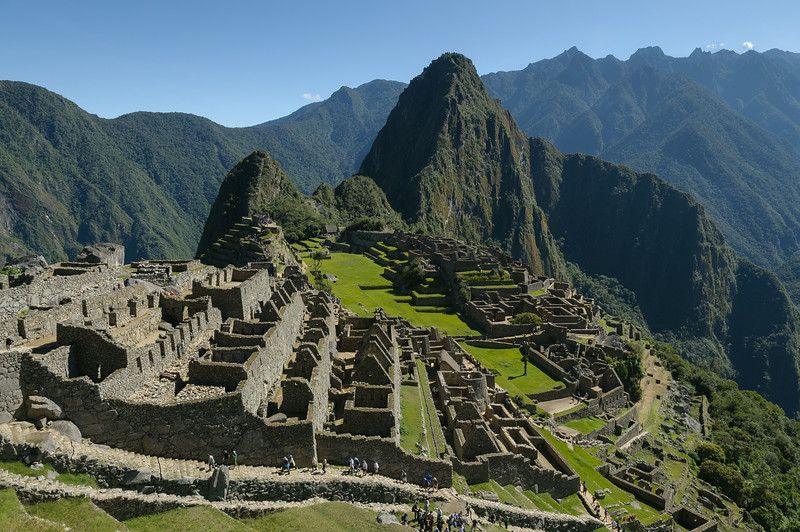 A Machu Picchu view that roughly matches the puzzle we put together before the trip