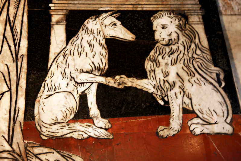 She-Wolf and Lioness, Siena Cathedral