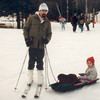 Sagiv and Aba skiing in New Hampshire