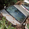 Crashed Vehicle in Plants - After Flood Disaster in Olympos, Turkey, Asia